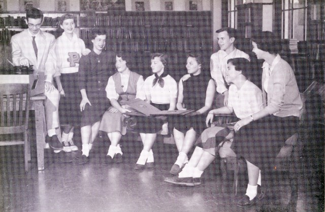1954 Record Club at the University of Nashville vintage image