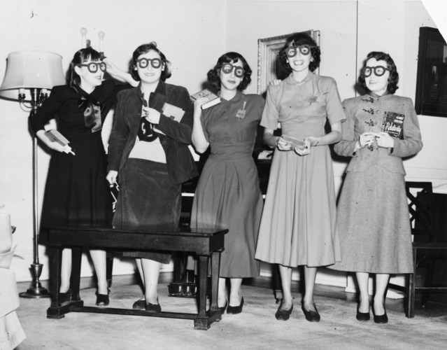 University of Chicago Student Group vintage image 1940s 1950s