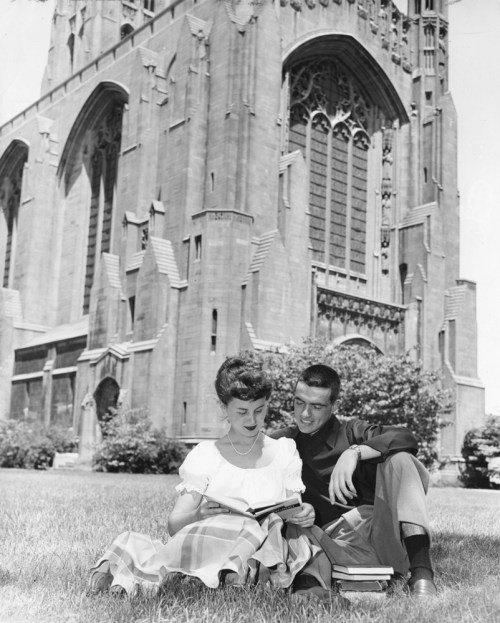 vintage image of students at university of Chicago