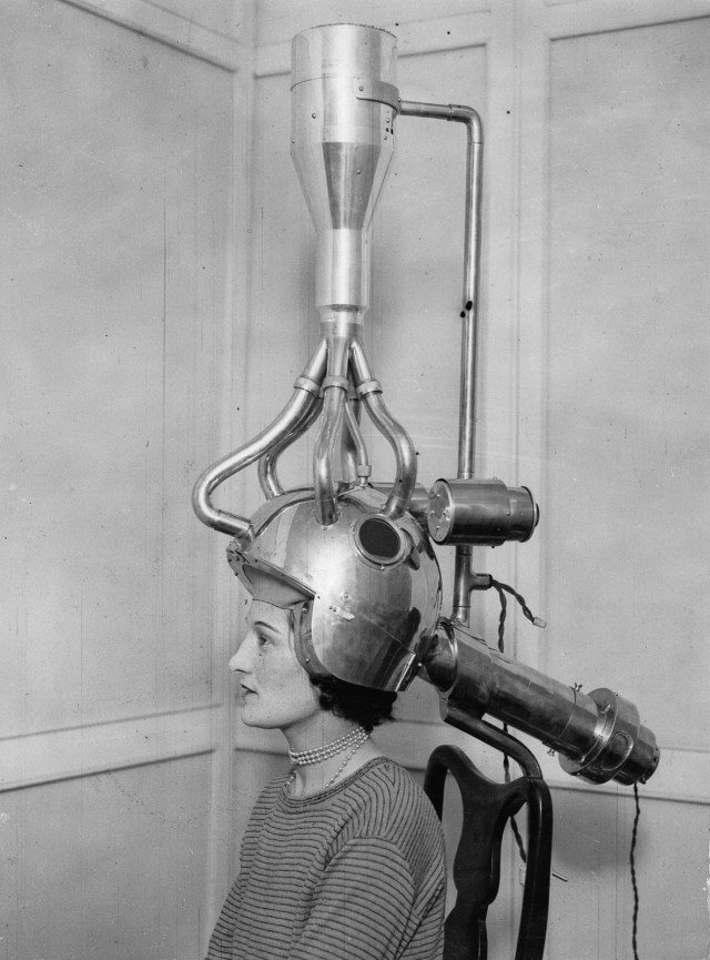 1930s vintage hair dryer image