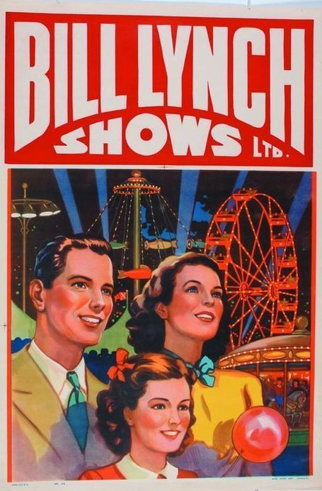 1940s poster for Bill Lynch Canadian Carnival show