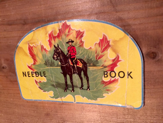 1950's Canada RCMP mounted police memorabilia needle book