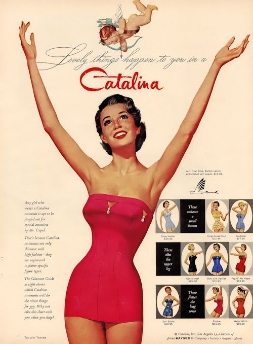 1950s vintage Catalina swimsuit ad