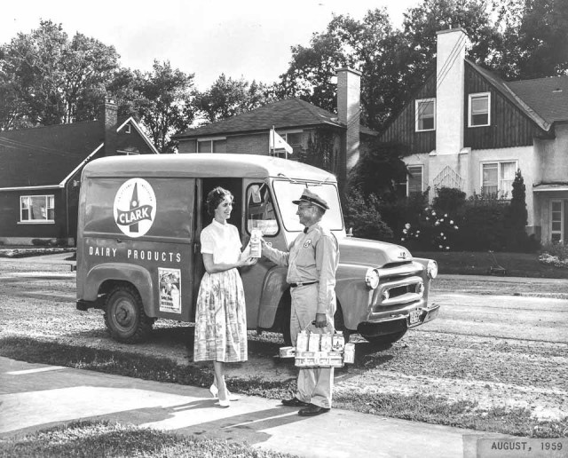 Clark's Dairy milk delivery in Ottawa - Aug. 1959