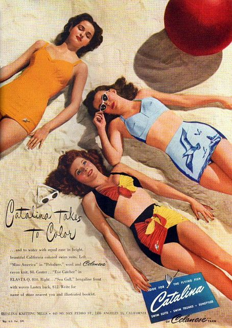 1940s Catalina Vintage Swimsuit Ad