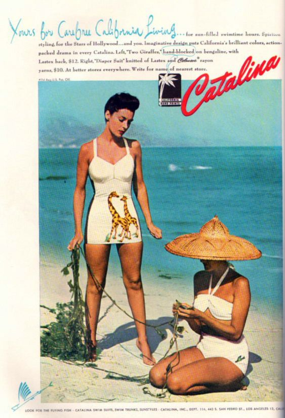 vintage 1940s Catalina Swimsuit ad