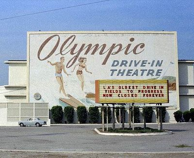Olympic Drive-In Theater, West Los Angeles, CA