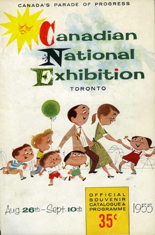 CNE Souvenir Catalogue & Programme Cover, 1955