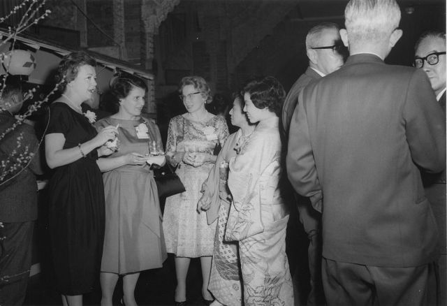 A cocktail party At The Imperial Hotel, Tokyo, Japan, March 13, 1961