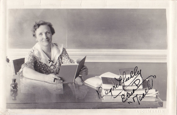 1930s Vintage Photograph- English Teacher at Desk