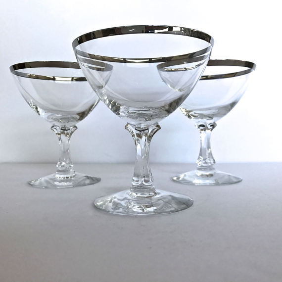 1950's champagne coupe glasses