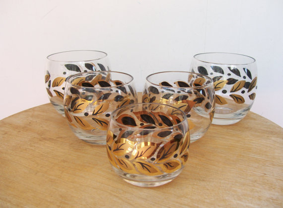 1950s lowball vintage glasses