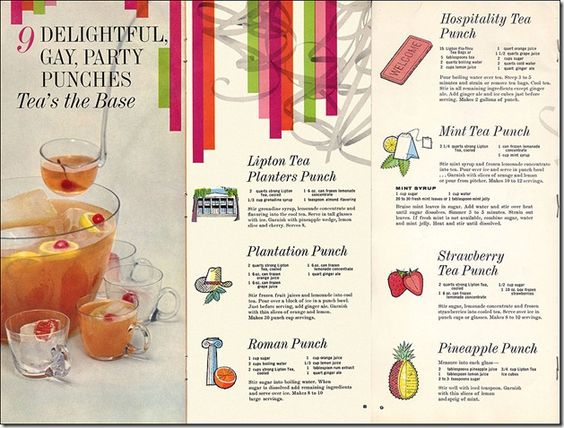 50's punch drink ideas
