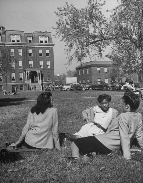 howard university students 1940s vintage photo