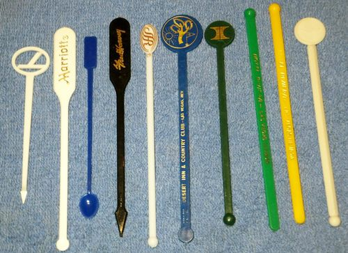 vintage stir swizzle sticks