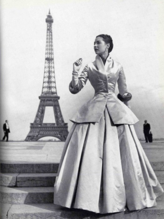 Dior New Look vintage modeling image