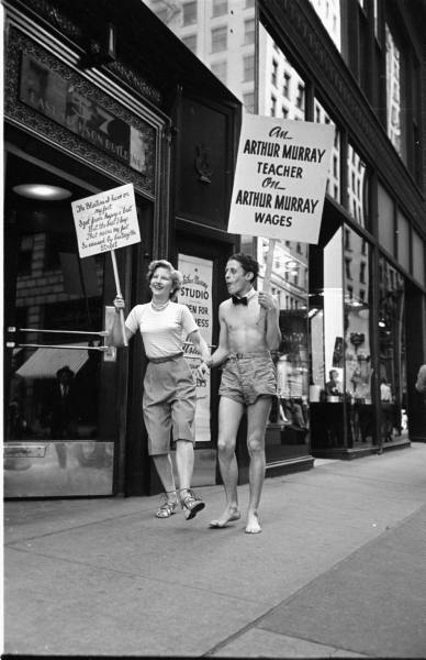 LIFE Dancing Teachers Strike Sept 9th, 1949 Vintage Image 14
