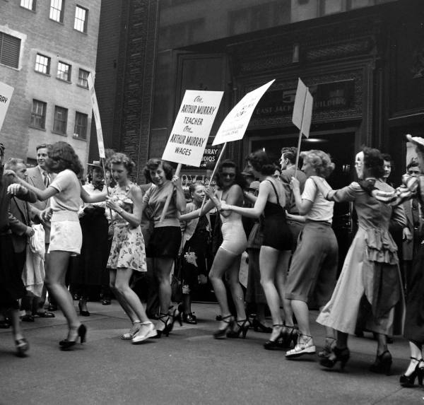 LIFE Dancing Teachers Strike Sept 9th, 1949 Vintage Image 8