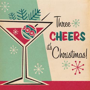 Kitsch 1950s christmas card