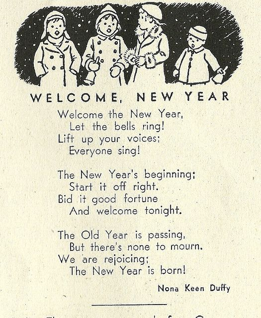new years vintage poem