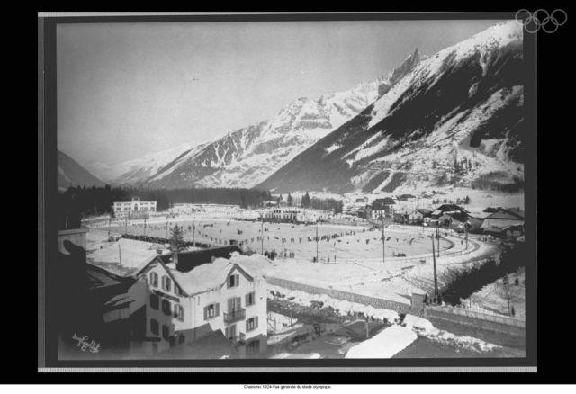1924 Winter Olympics Stadium view Chamonix, France