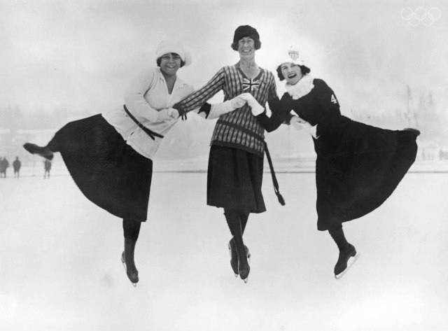 Herma Planck-Szabo of Hungary, Ethel Muckelt of Britain and Beatrix Loughran of the U.S.A. Planck-Szabo won gold, with Loughran and Muckelt taking silver and bronze respectively.