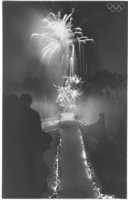 Fireworks at Closing Ceremony 1936 Garmish Partenkirchen