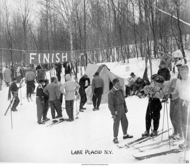 Lake Placid 1932-Ski trail finish line