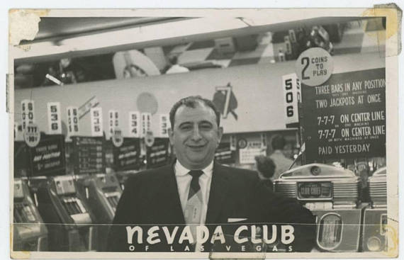 Nevada Club, Las Vegas: Vintage RPPC Souvenir Photo, c1950s
