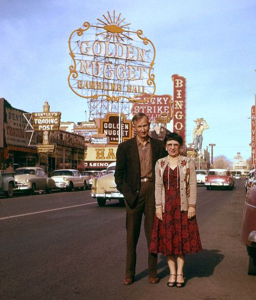 visiting las vegas in the 1950s vintage image