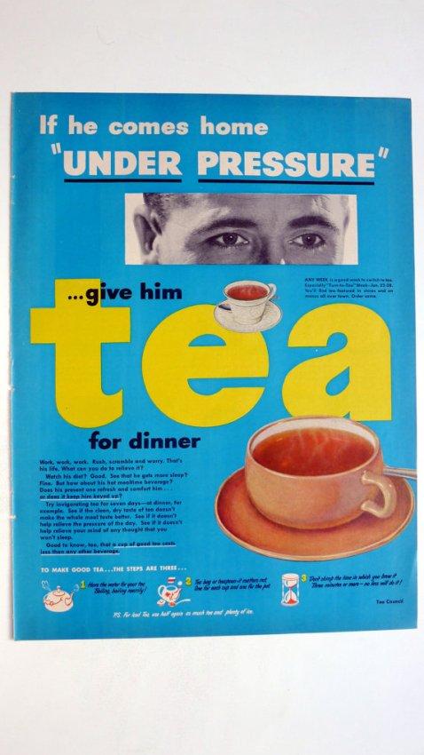 1950 LIFE Magazine Tea Council Ad - vintage magazine ad