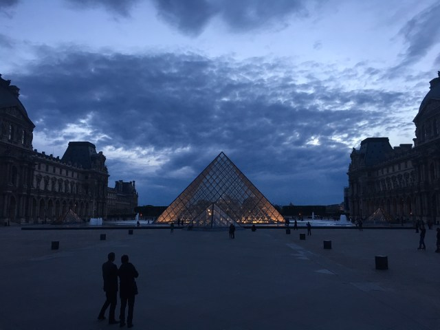 Louvre, Paris France at Night