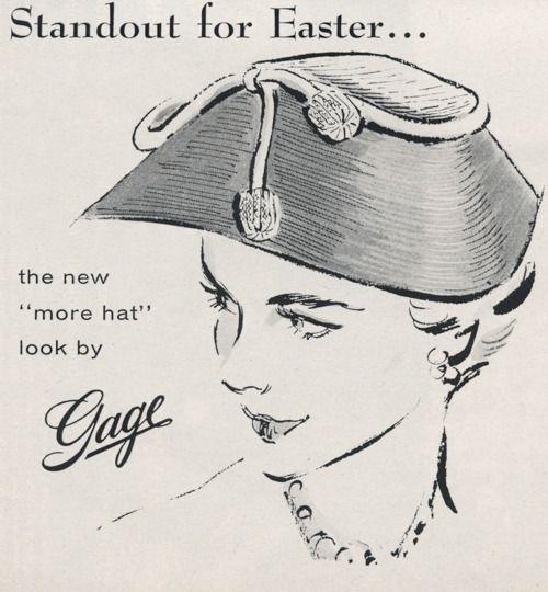 1950s Easter Hat vintage advertising