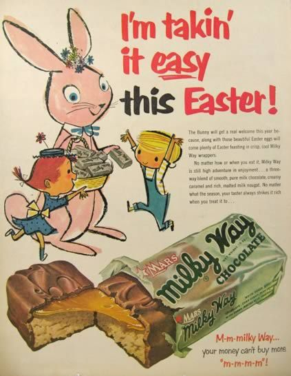1950s chocolate vintage easter advertising