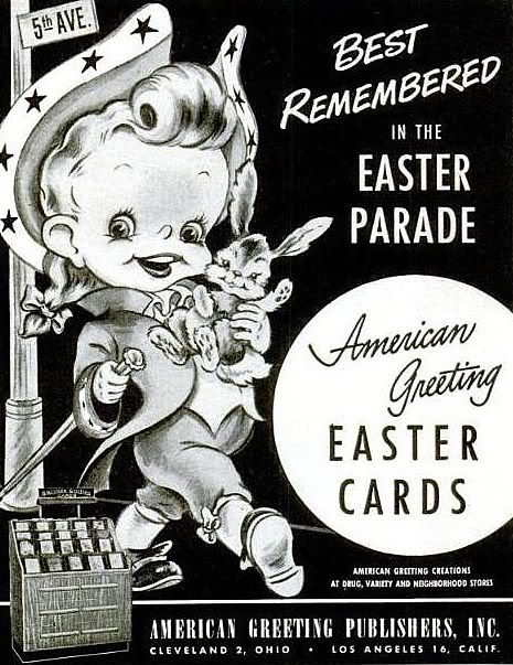 American Greeting Cards Ad 1949 (Easter)
