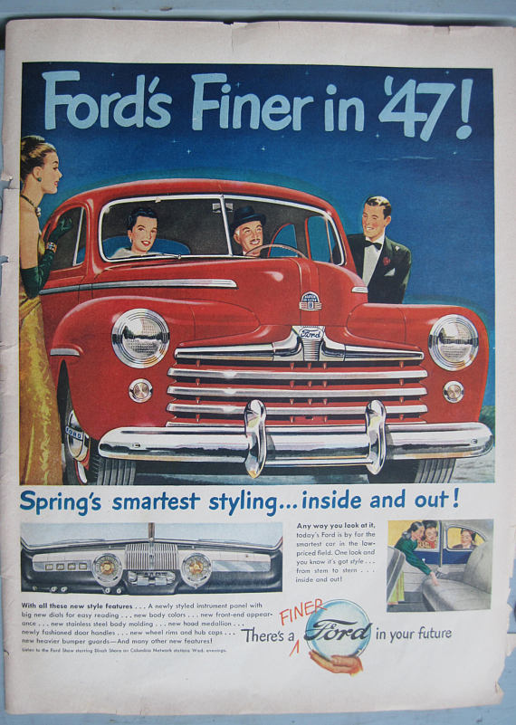 April, 1947- Life Magazine Ford Advertisement – Vintage Ford Automobile Ad
