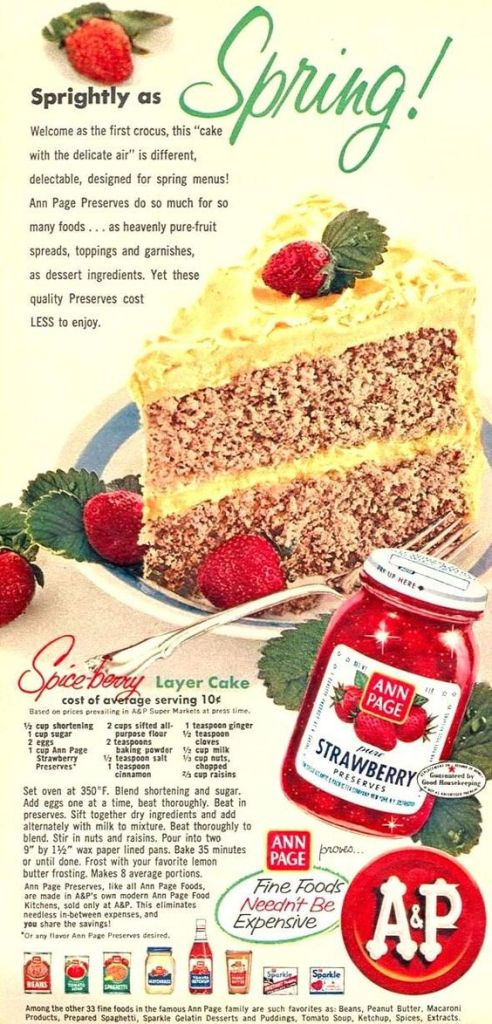 Spice Berry Layer Cake recipe from Woman's Day magazine APRIL 1956