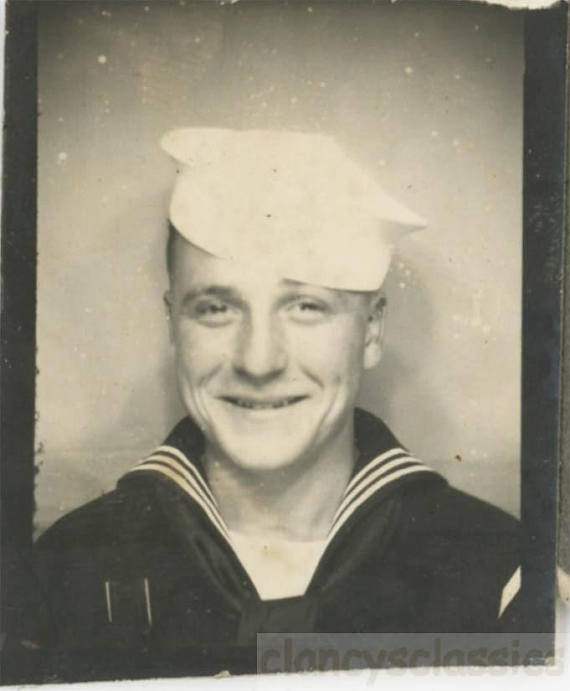 vintage photo 1944 Sailor photobooth image