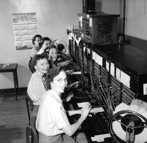 1950s Telephone Operators vintage photo