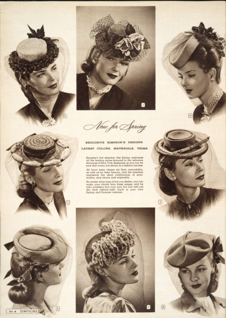 new style new authentic classic styles 1945 Womens Hats for Spring 1940s Vintage Fashion from ...