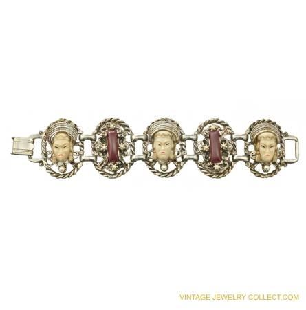Vintage Selro Asian Princess Bracelet