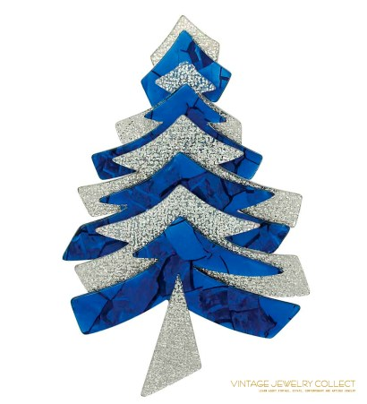 Blue Lea Stein Limited Edition Christmas Tree Pin
