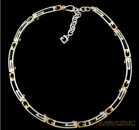 Givenchy Silver and Gold-tone Mix Metal Necklace