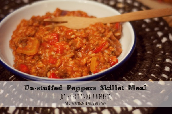 Un-Stuffed Peppers Skillet Meal (DF and GF) :: Vintage Kids | Modern World