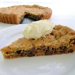 Flourless Deep Dish Chocolate Chip Cookie Pie (DF + GF option)