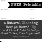 A Natural Cleaning Recipe Round-Up and A Free Printable To Keep Them Organized!