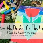 How We Do Art On The Go (A Kwik Stix Review + Giveaway!)