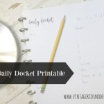 FREE Daily Docket Printable