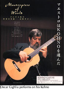 Alerio Diaz plays a Kohno Guitar