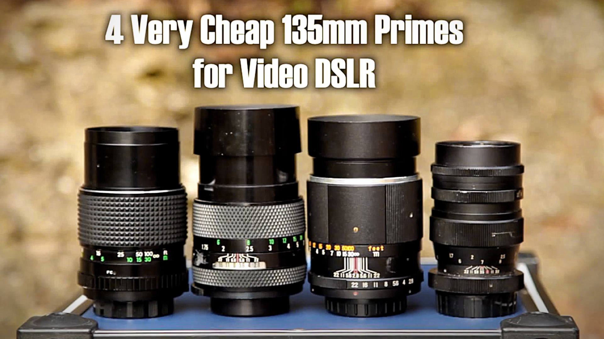 135mm Lens Test & Overview PART 1 (Helios, Chinon, Promura, Dollonds)